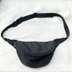 1990s Travellwell Fanny Pack Belt Bag Black Zip